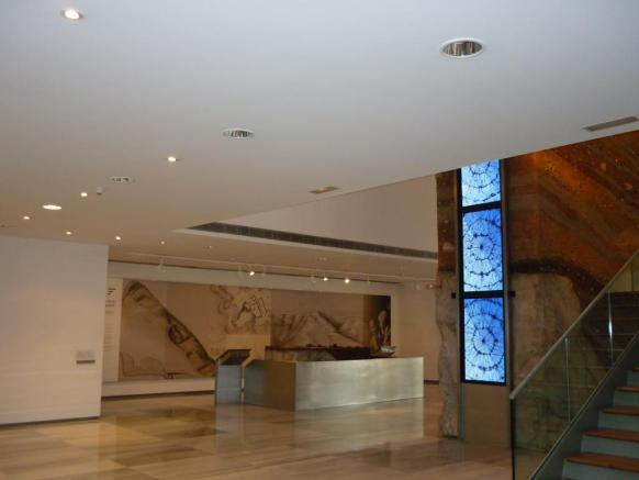 Archaeological museum Almería ground floor and stratigraphic column